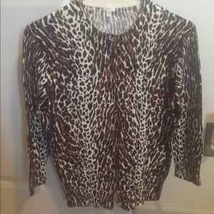 J Crew factory cheetah print cardigan